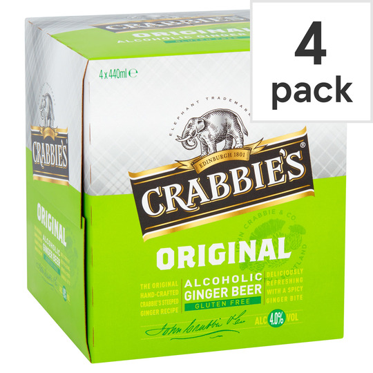 Crabbies Alcoholic Ginger Beer 4X440ml