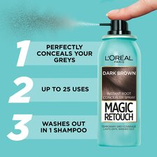 image 2 of L'oreal Magic Retouch Root Touch Up Dark Brown 75Ml