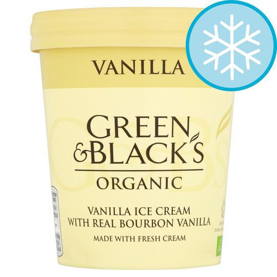 Green & Blacks Organic Vanilla Ice Cream 500Ml