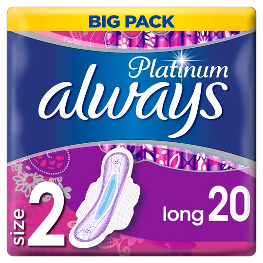 image 1 of Always Platinum Longsize2s/Twls With Wings 20 Pack