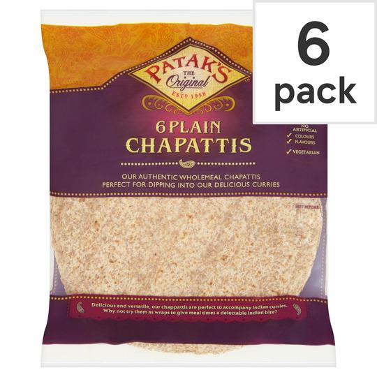 Pataks Plain Chapattis 6'S