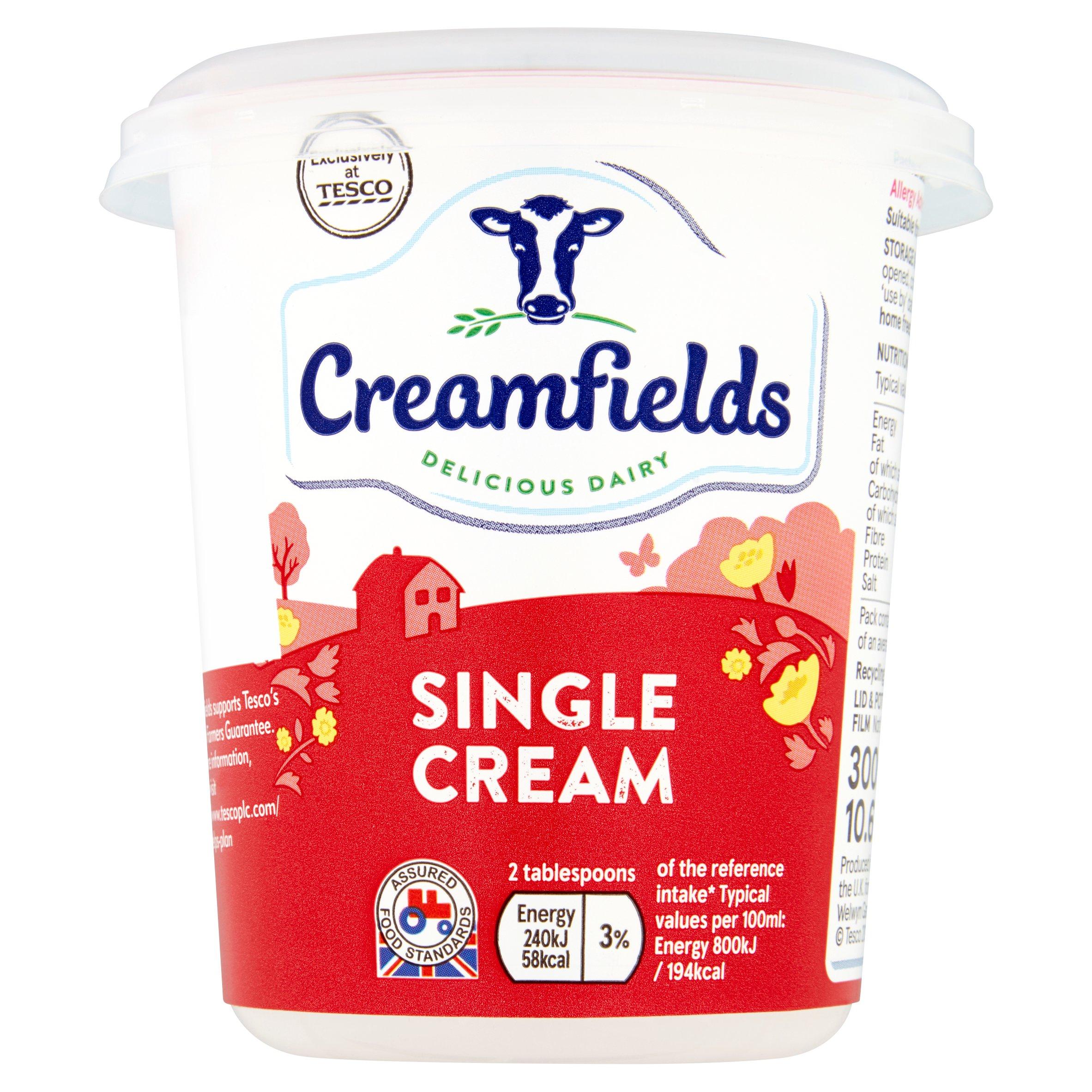 Creamfields Single Cream 300Ml