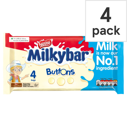 Milkybar White Chocolate Buttons 4 Pack 80g Tesco Groceries