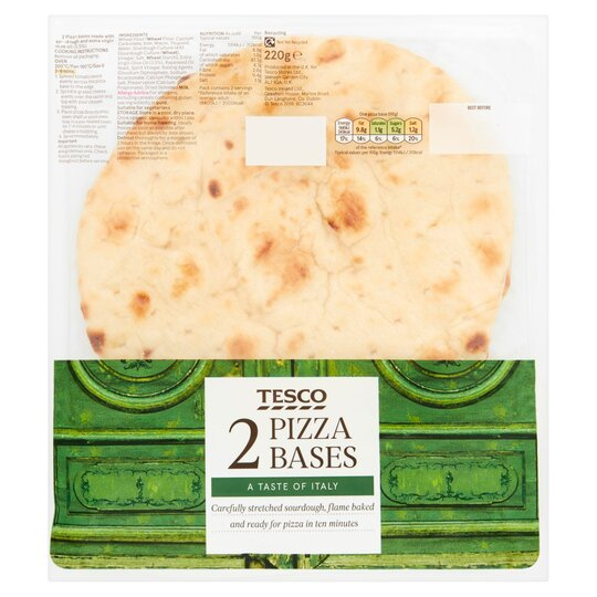 Tesco Sourdough Pizza Base 2 Pack 220g