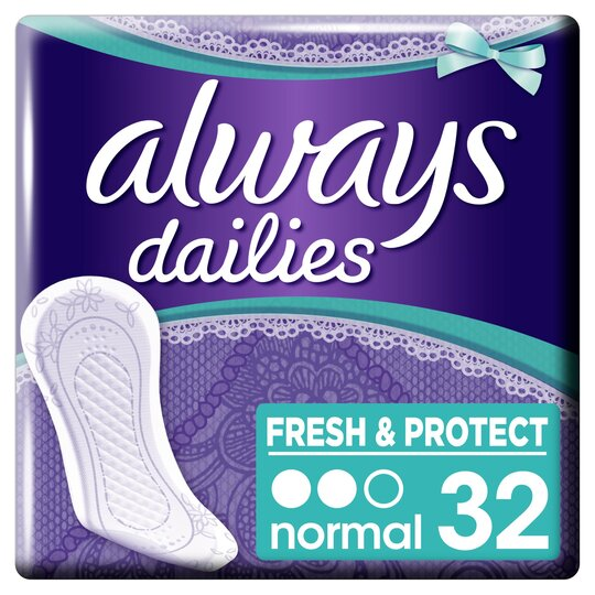 image 1 of Always Dailies Normal Panty Liners 32 Pack