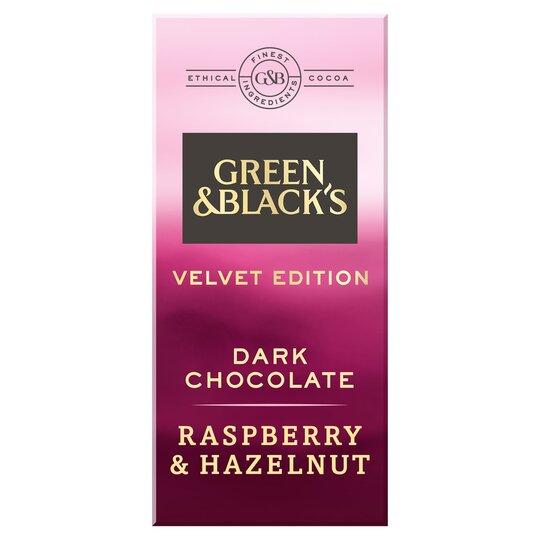 Green & Blacks Dark Raspberry & Hazelnut Chocolate 90G