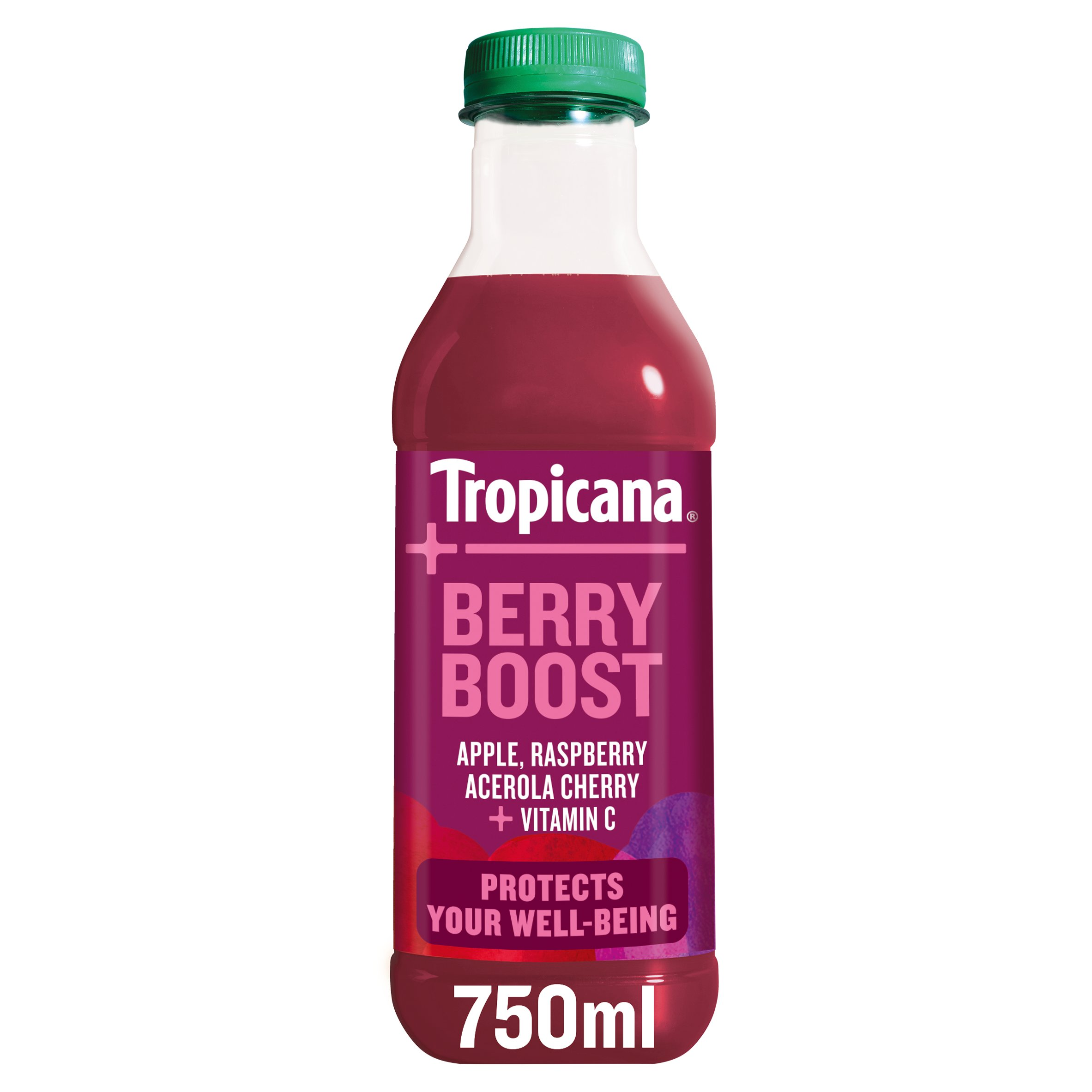 Tropicana Plus Berry Boost Juice Drink 750Ml