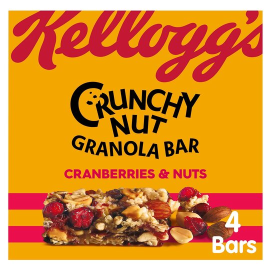 Kellogg's Crunchy Nut Bar Cranberry & Nut 4X32g