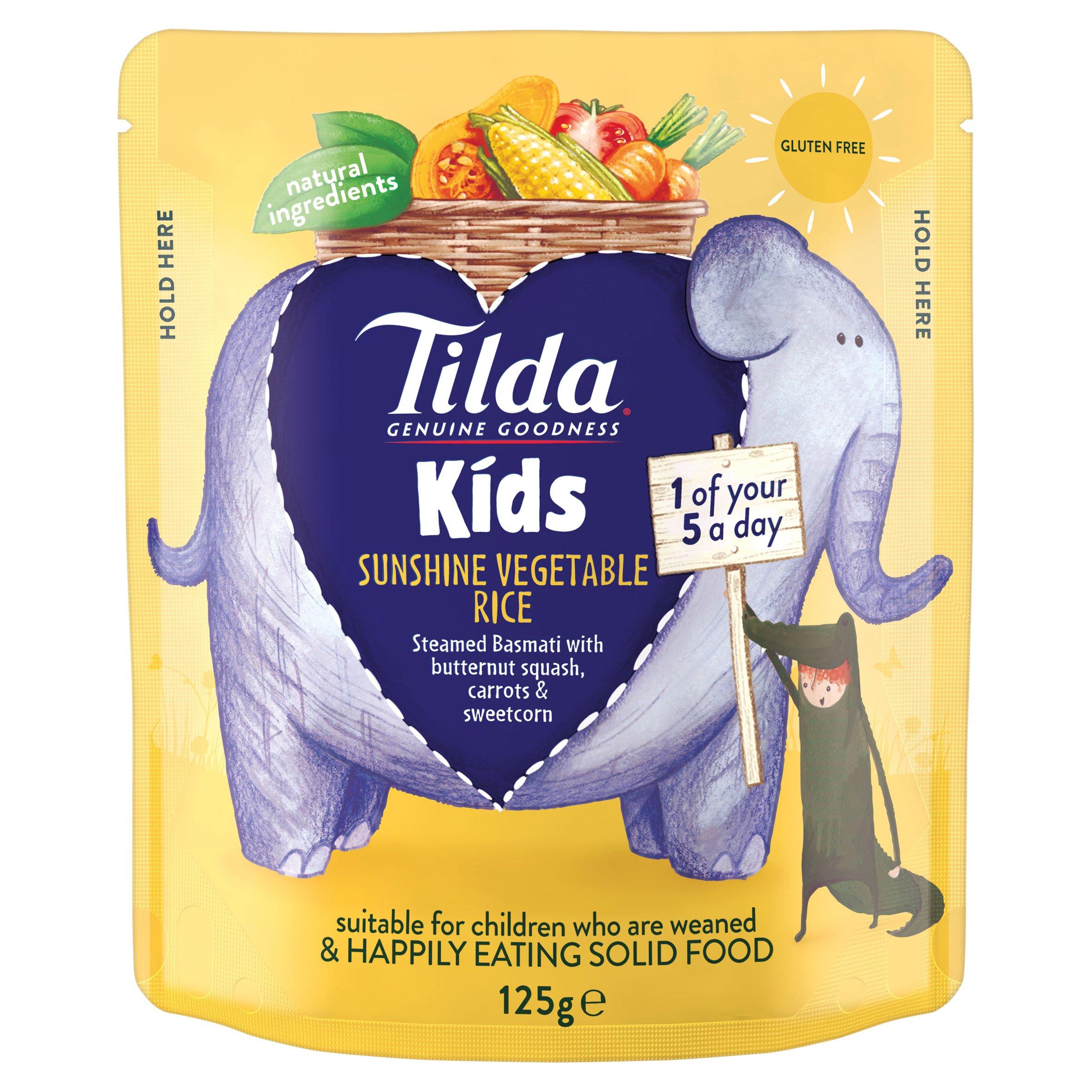 Tilda Kids Sunshine Vegetable Rice 125G