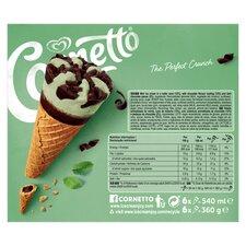 image 2 of Cornetto Mint Ice Cream Cones 6 X 90Ml