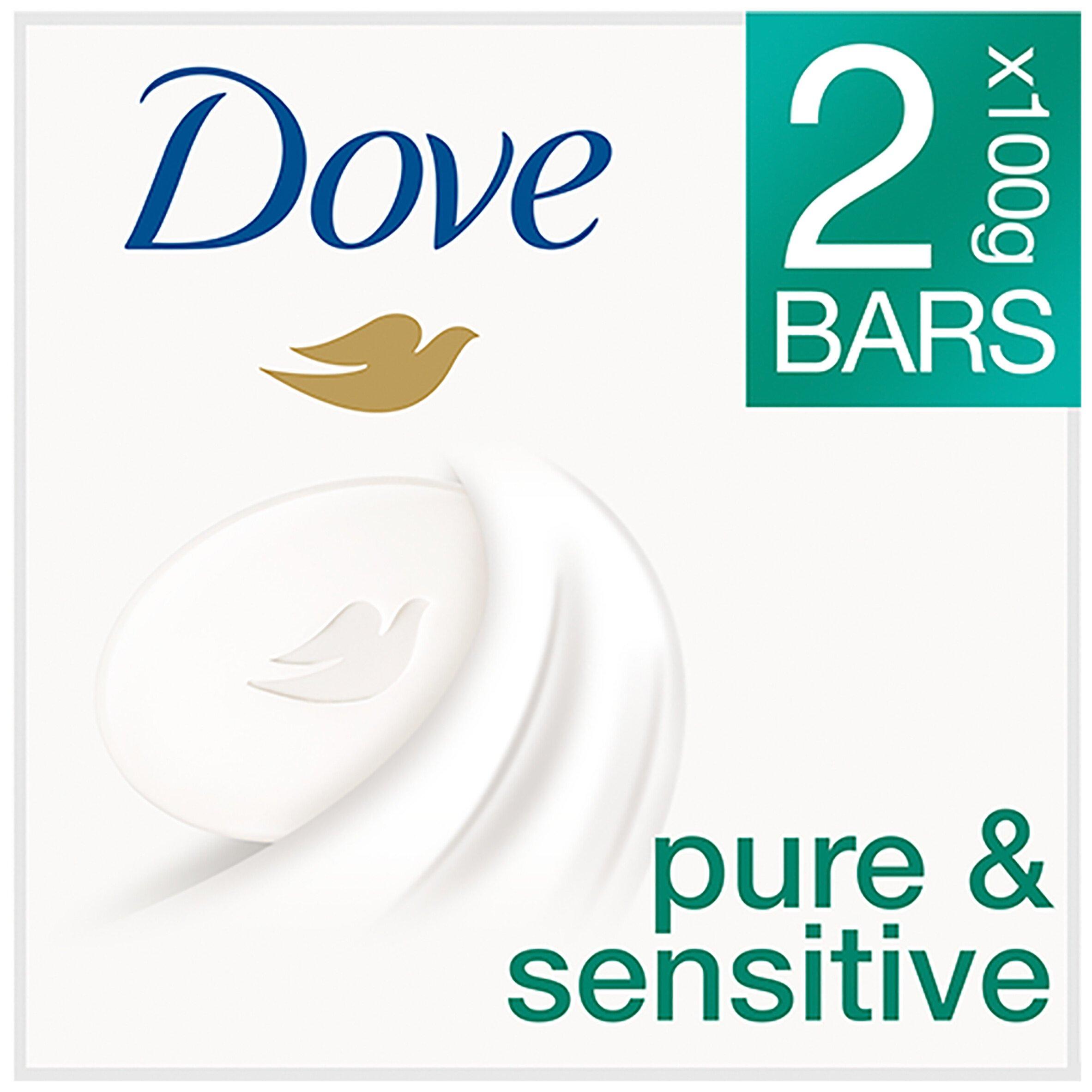 Dove Pure & Sensitive Hypoallergenic Beauty Cream Bar 2 X 100G