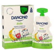 image 2 of Danone Kids Organic Raspberry & Banana Yogurt 4 X 70G