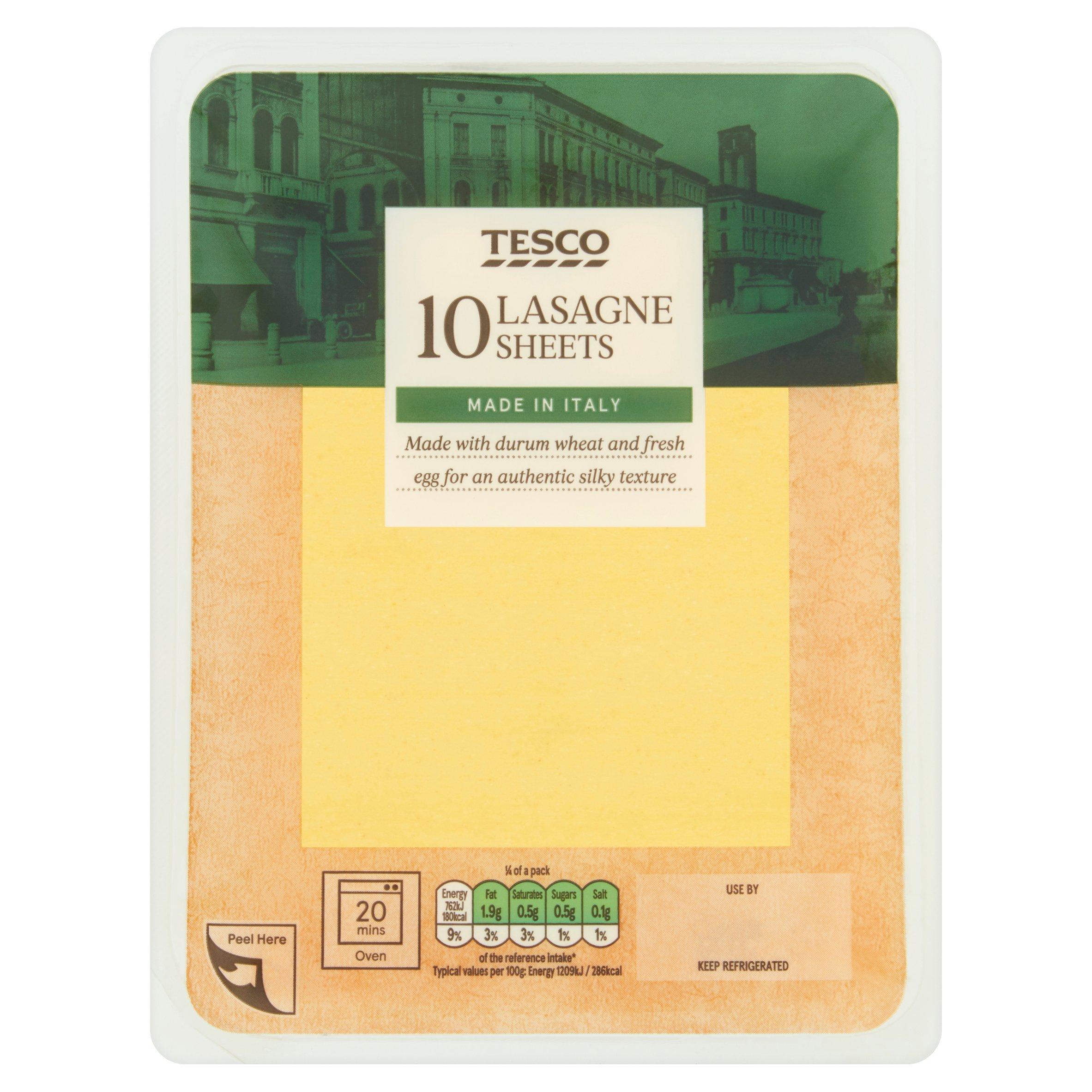 Tesco Fresh Lasagne Sheets 250G