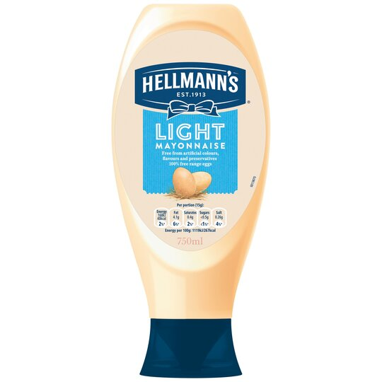 image 1 of Hellmann's Light Squeezy Mayonnaise 750Ml