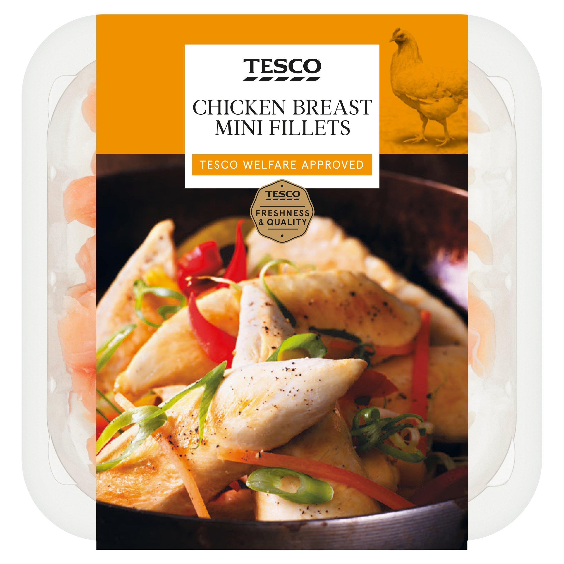 Tesco British Chicken Breast Mini Fillets 400G