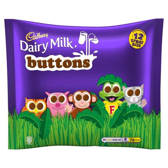 Cadbury Dairy Milk Buttons Treat Size Buttons 170G