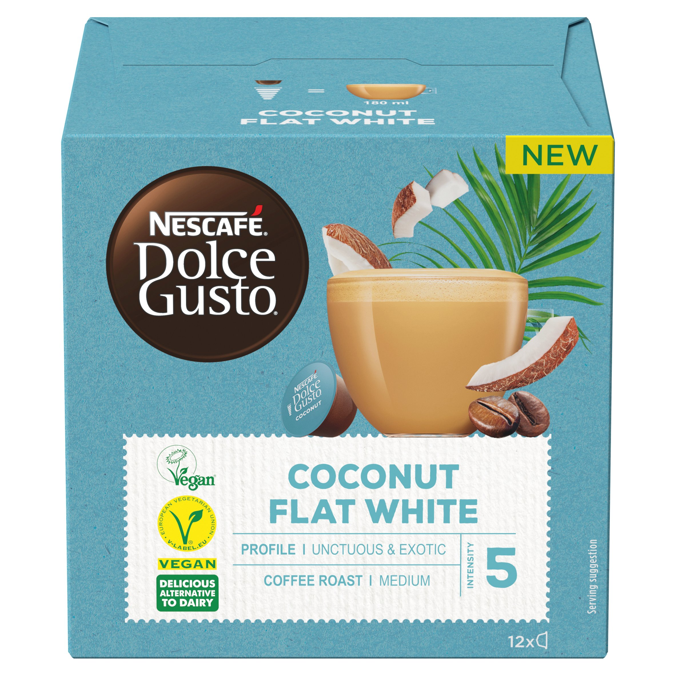 Nescafe Dolce Gusto Coconut Flat White Coffee Pods X12 116.4G