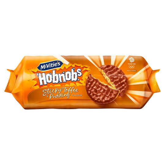 Mcvities Hobnobs Sticky Toffee Pudding Flavoured Biscuits 262G