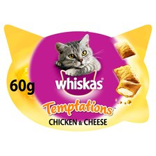 image 1 of Whiskas Temptations Chicken & Cheese 60G