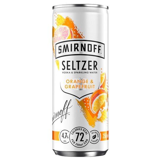 Smirnoff Seltzer Orange & Grapefruit 250Ml