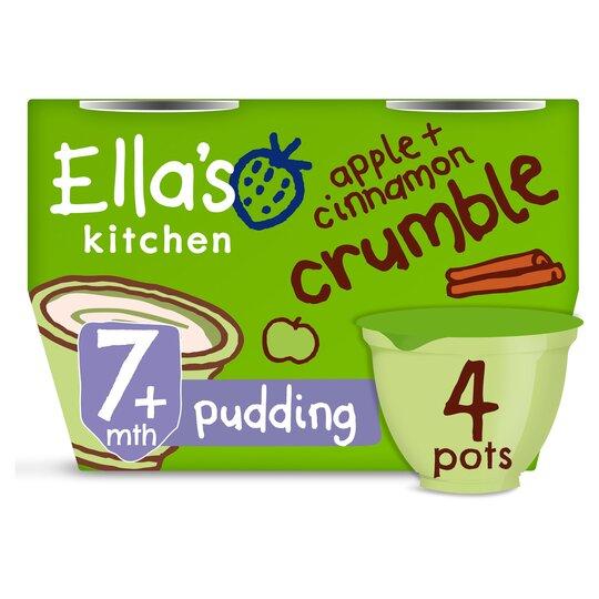 image 1 of Ella's Kitchen Apple & Cinnamon Crumble 4X80g