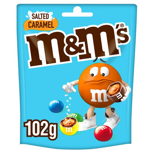 M&M's Salted Caramel Chocolate Pouch Bag 102G