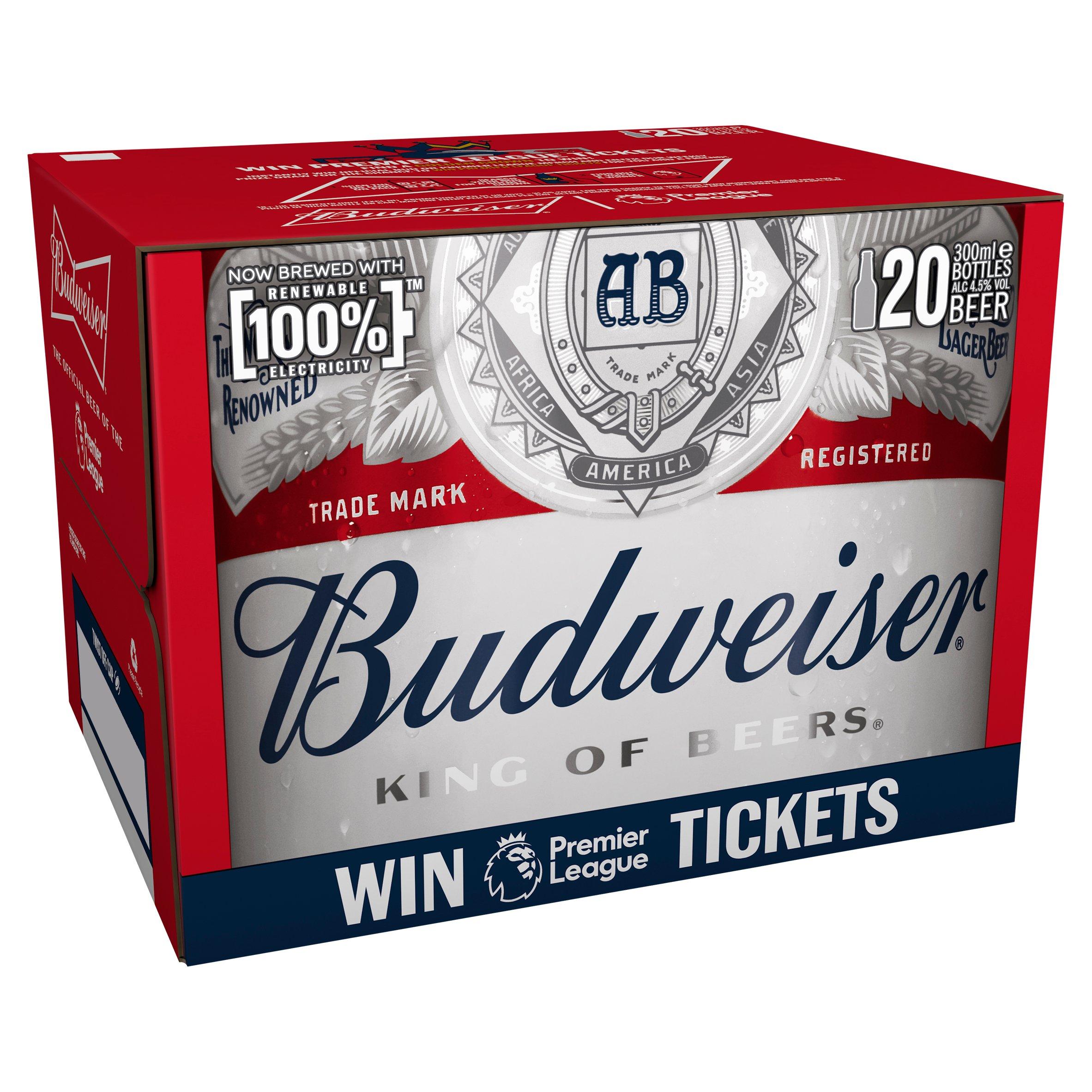 Budweiser 20 Pack 300Ml