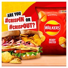 image 2 of Walkers Ready Salted Crisps 6X25g
