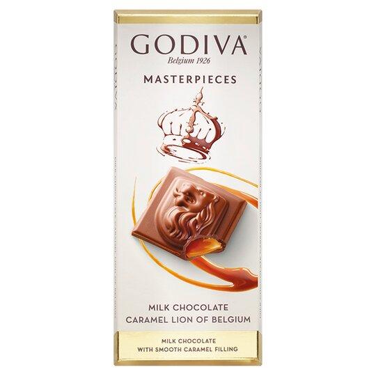 image 1 of Godiva Belgium Milk Chocolate Bar With Caramel 83G