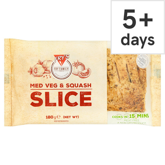 Fry's Meat Free Medium Vegetable & Squash Slice 180G