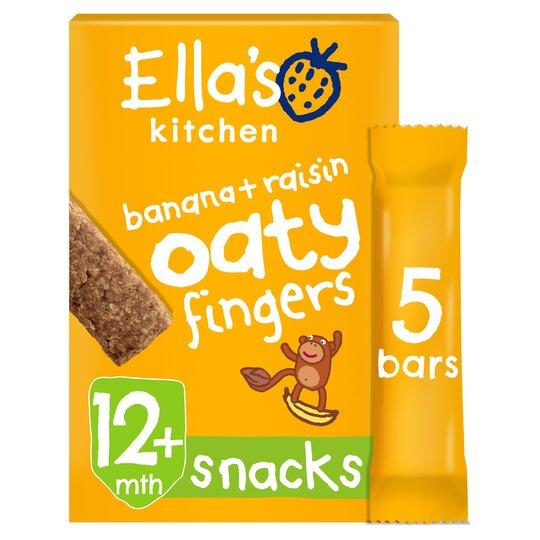 Ella's Banana & Raisin Nibbly Fingers 5 X 25G