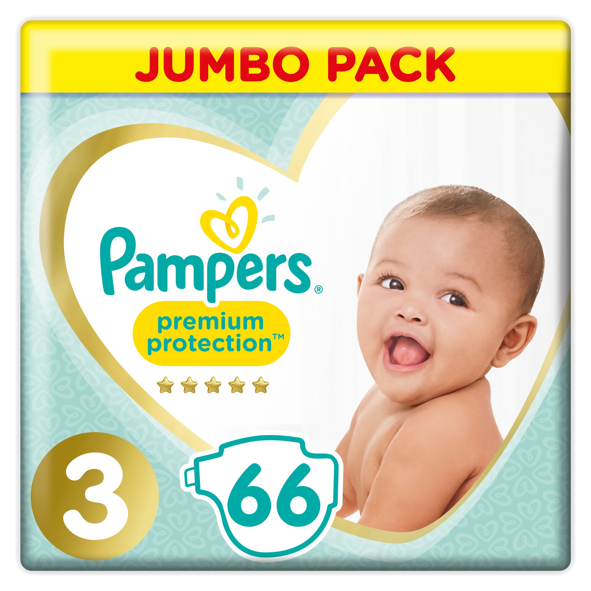 Pampers New Baby Size 3 Jumbo Pack 66