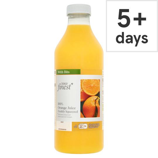 Tesco Finest Orange Juice With Bits 1L