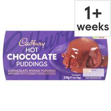 image 1 of Cadbury Hot Chocolate Puddings 2 X 110G