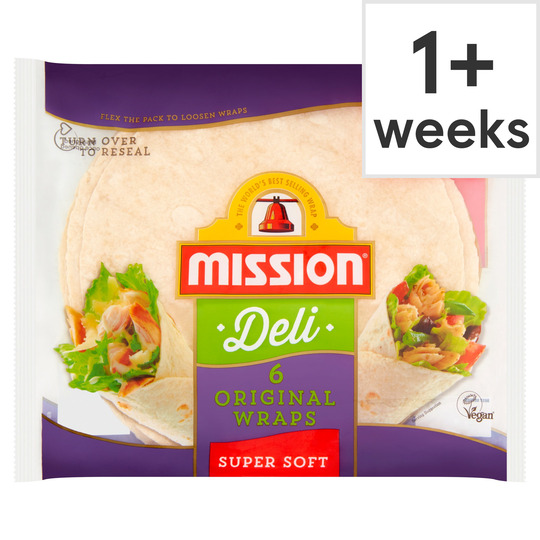 Mission Deli Original Wraps Super Soft 6 Pack 367G