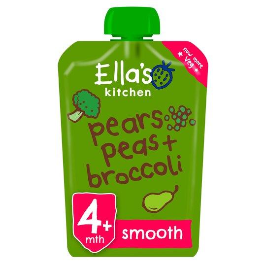 Ella's Kitchen Broccoli Pear & Peas Puree 120G
