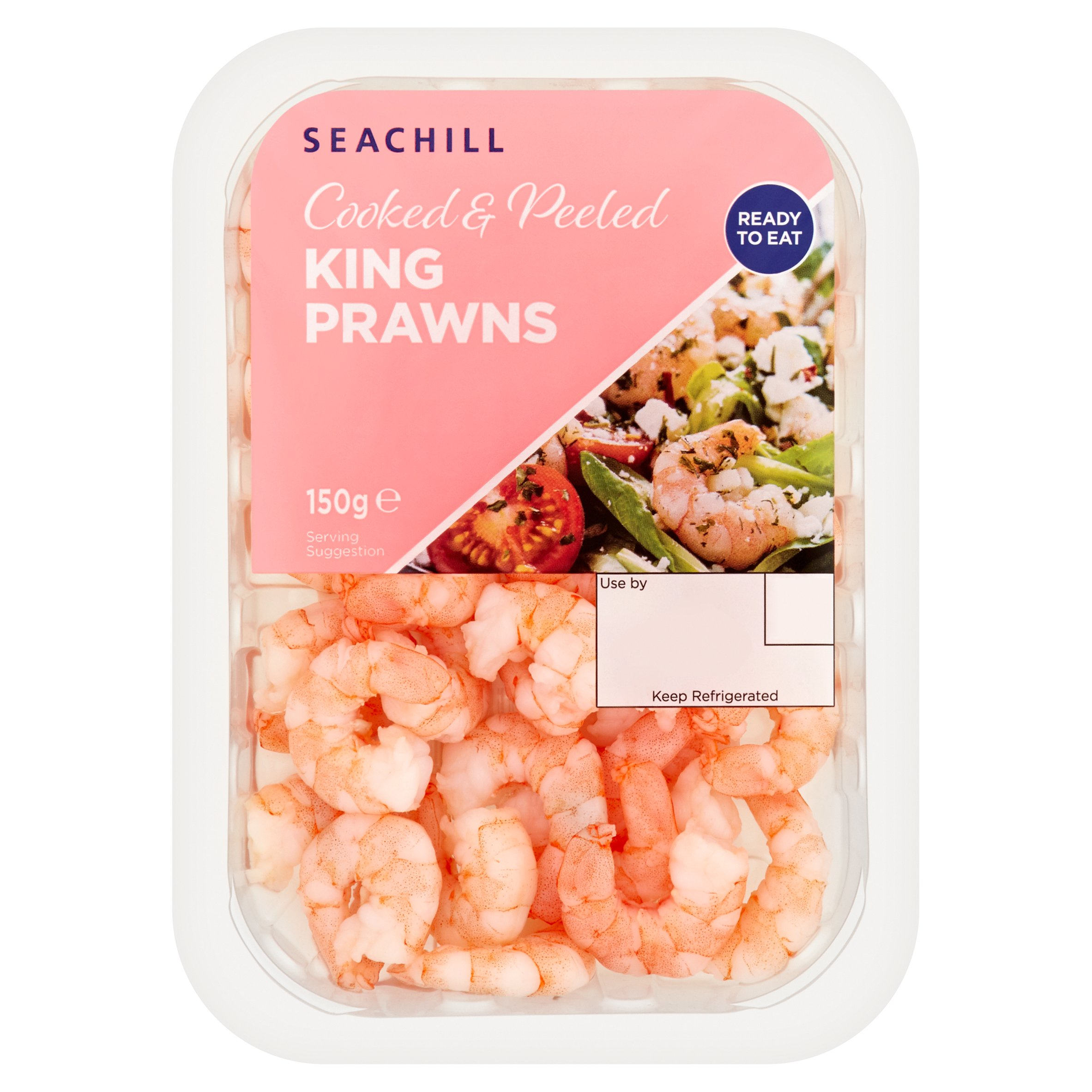 Seachill Cooked& Peeled King Prawns 150G
