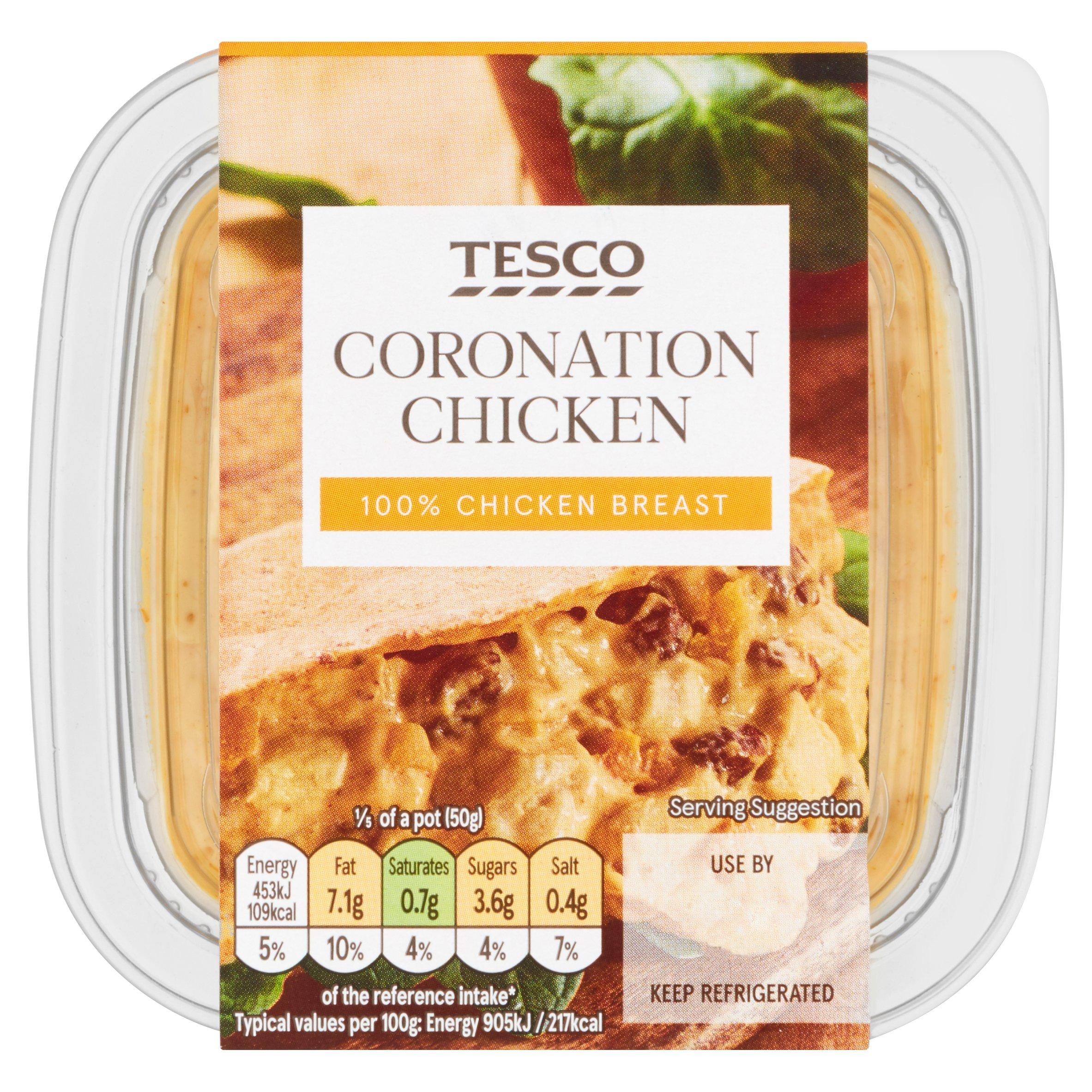 Tesco Coronation Chicken Sandwich Filler 250G