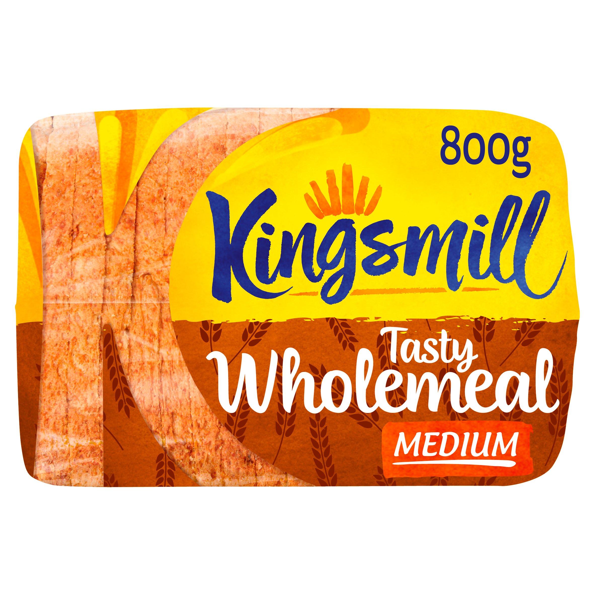 Kingsmill Tasty Wholemeal Medium Bread 800G