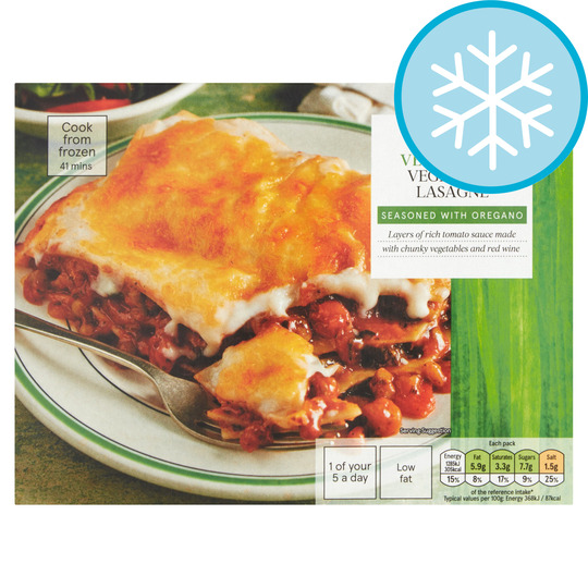Tesco Vegetarian Vegetable Lasagne 375g Tesco Groceries