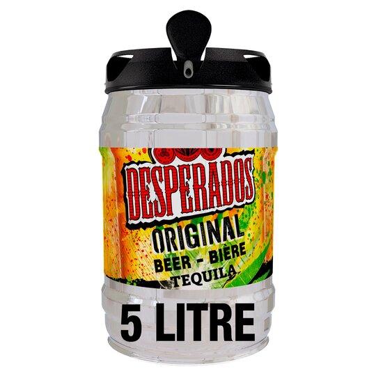 Desperados Lager Beer 5 Ltr Keg Tesco Groceries