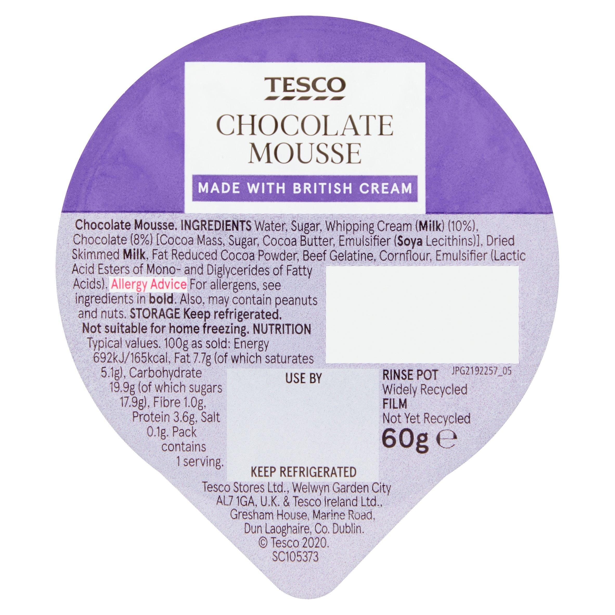 TESCO > Fresh Food > Tesco Chocolate Mousse 60G
