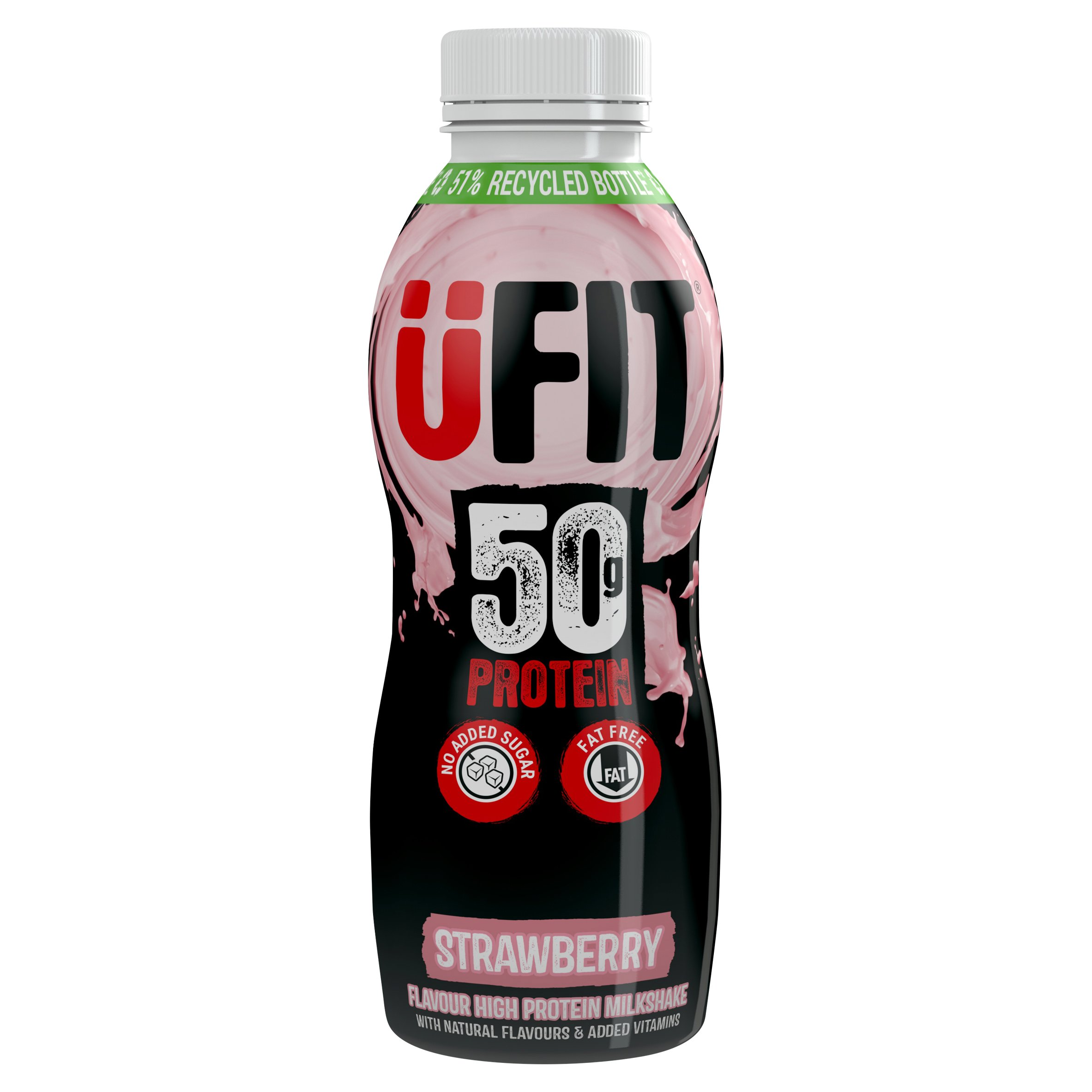 Ufit Pro50 Protein Drink Strawberry 500Ml