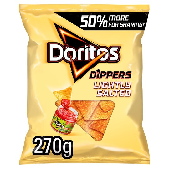 image 1 of Doritos Dippers Lightly Salted Tortilla Chips 270G