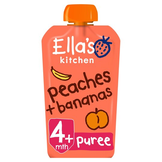 Ella's Kitchen Peaches Plus Banana Stage 1 X 120G