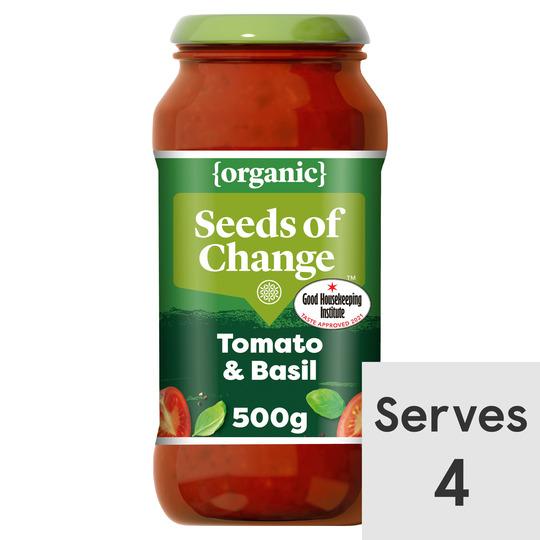 image 1 of Seeds Of Change Tomato & Basil Organic Pasta Sauce 500G