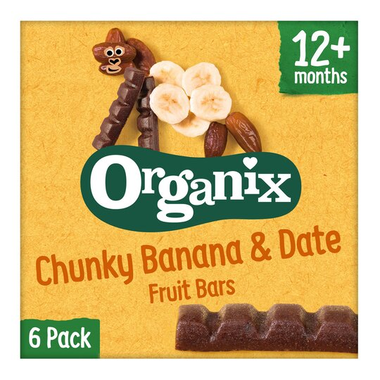image 1 of Organix Banana & Date 6 X 17G