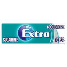 image 1 of Extra Cool Breeze Gum 10 Pieces