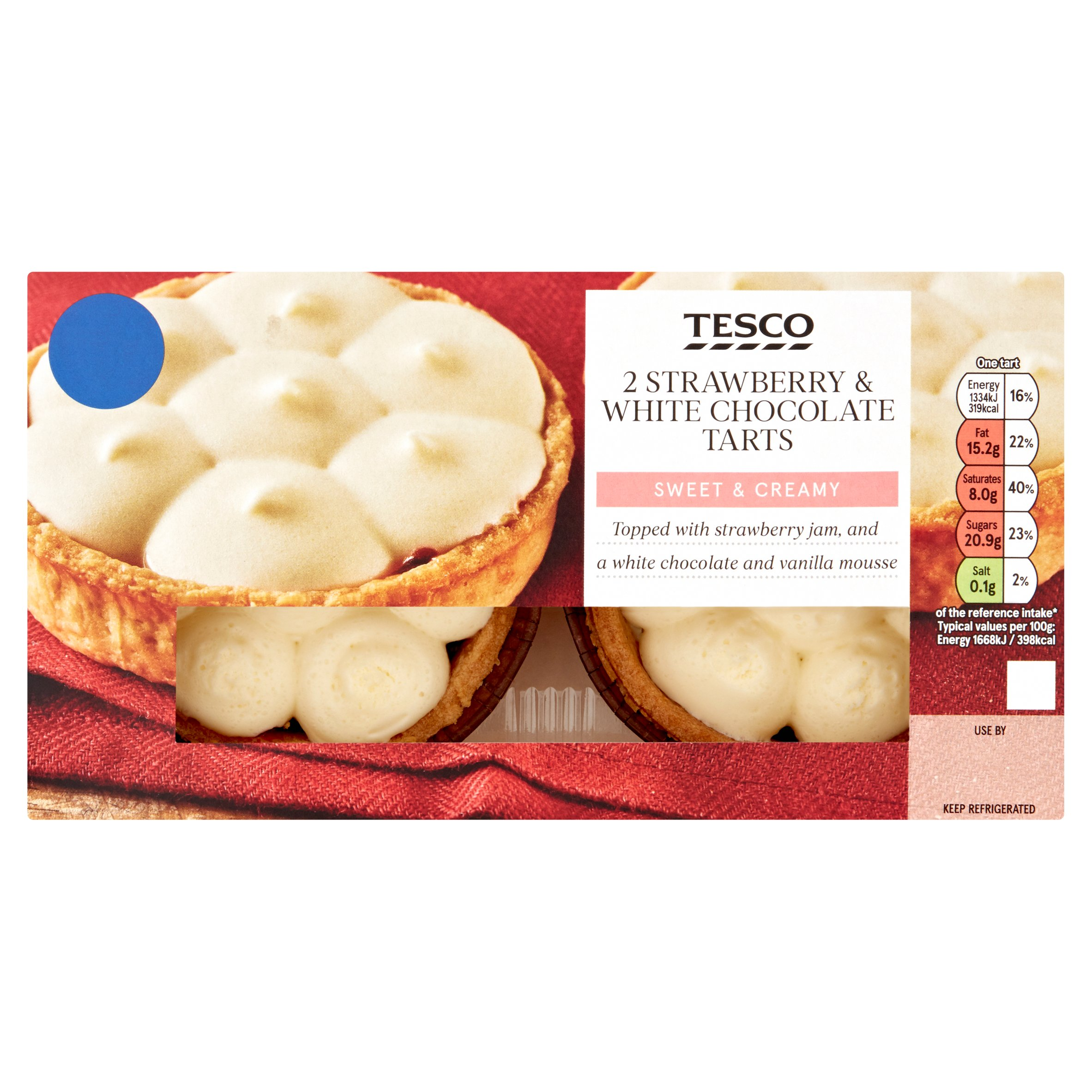 Tesco Strawberry & White Chocolate Tarts 160G