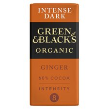 image 1 of Green & Blacks Organic Ginger Chocolate 90G